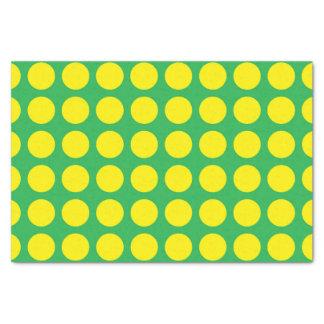 Papel De Seda Verde amarillo de los lunares