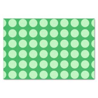 Papel De Seda Verde verde suave de los lunares