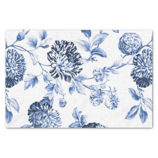 Papel De Seda Vintage azul Toile floral No.2 del bígaro