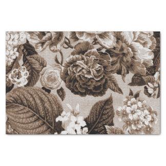 Papel De Seda Vintage Toile floral No.1 de Brown del tono de la