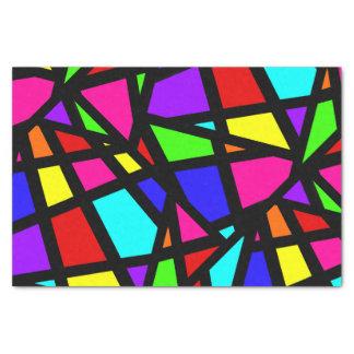 Papel De Seda Vitral abstracto geométrico