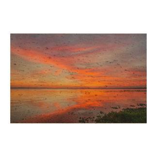Papel del corcho de la puesta del sol impresiones en corcho