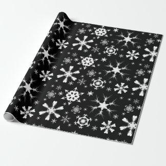 Papel del navidad del copo de nieve papel de regalo
