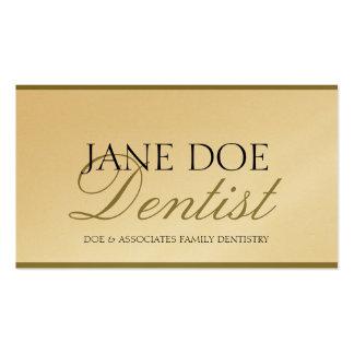 Papel del oro de la escritura de la odontología de tarjetas de visita