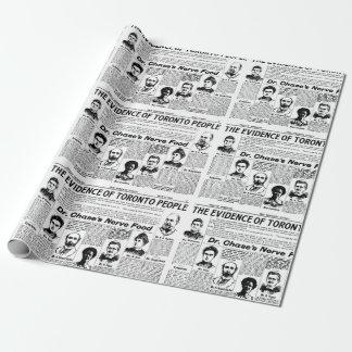 Papel del regalo del periódico del vintage de la