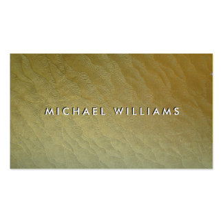 Papel dorado tarjetas de visita