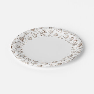 Papel dulce platos de papel