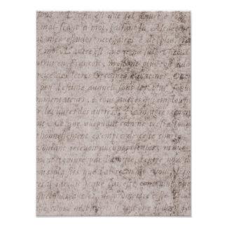 Papel francés de la antigüedad del pergamino de la arte fotografico