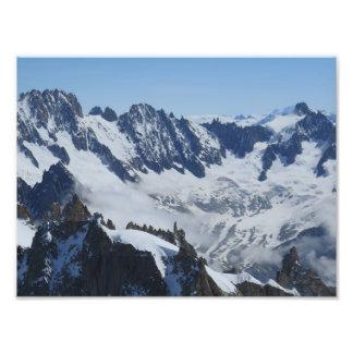 Papel francés de la foto de las montañas (satén)