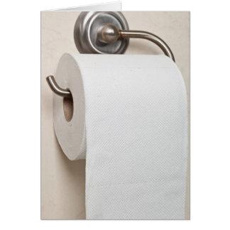 Papel higiénico tarjeta de felicitación