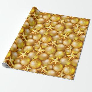 Papel impreso ornamentos del brillo del oro del papel de regalo