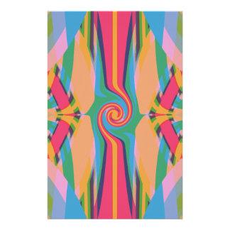 Papel inmóvil extraño colorido