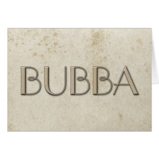 Papel manchado vintage simple de Bubba Felicitación