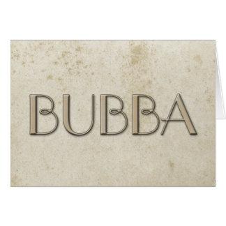 Papel manchado vintage simple de Bubba Tarjeta Pequeña
