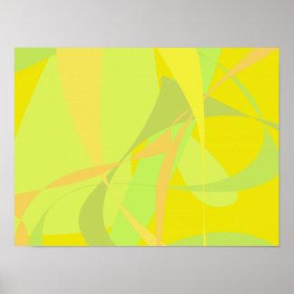 Papel pintado amarillo posters