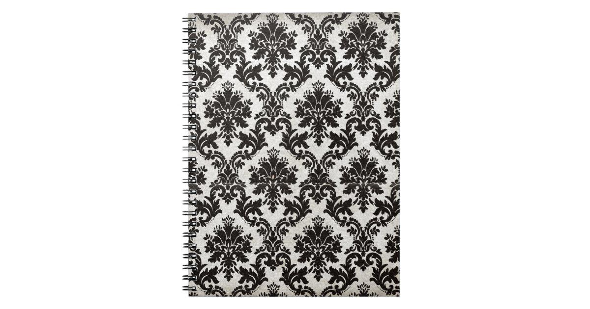 Papel pintado blanco y negro del damasco del vinta for Papel pintado blanco y negro