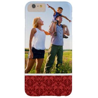 Papel pintado de encargo del rojo de la foto funda barely there iPhone 6 plus