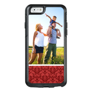 Papel pintado de encargo del rojo de la foto funda otterbox para iPhone 6/6s
