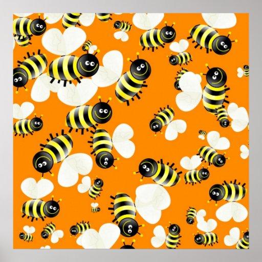 Papel pintado de la abeja poster