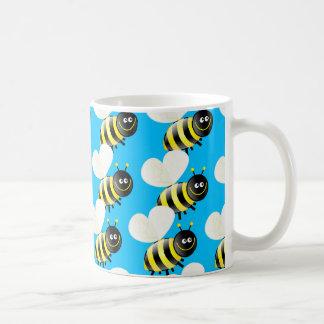 Papel pintado de la abeja taza de café