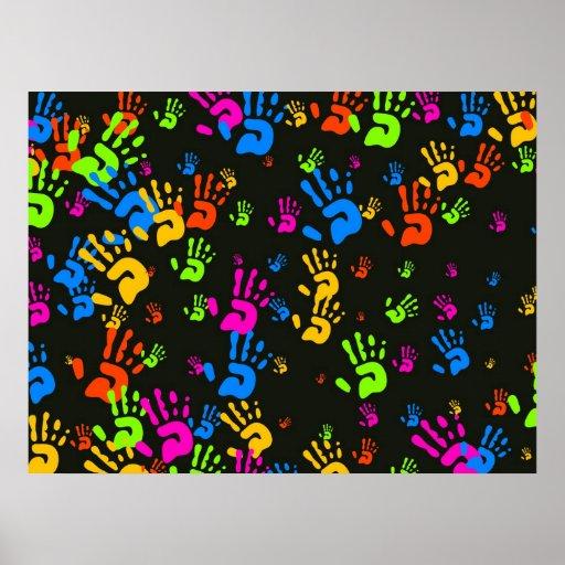 Papel pintado de las manos impresiones