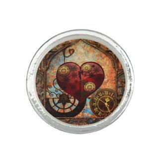 Papel pintado de los corazones de Steampunk del Anillo