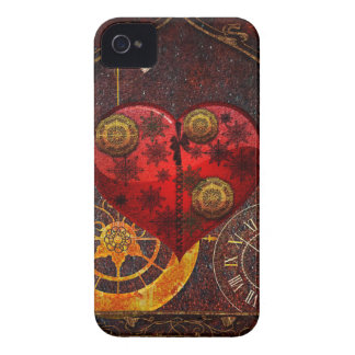 Papel pintado de los corazones de Steampunk del Funda Para iPhone 4 De Case-Mate