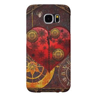 Papel pintado de los corazones de Steampunk del Funda Samsung Galaxy S6