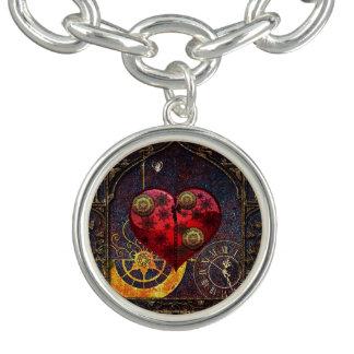 Papel pintado de los corazones de Steampunk del Pulsera