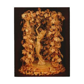 papel pintado de madera 2 del alivio impresión en madera
