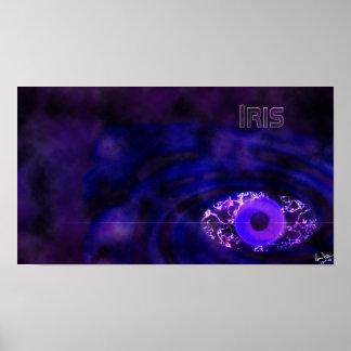 Papel pintado del iris póster