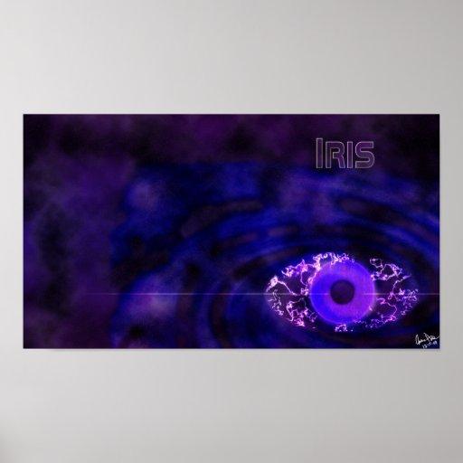Papel pintado del iris poster