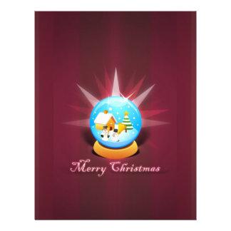 Papel pintado del navidad flyer personalizado