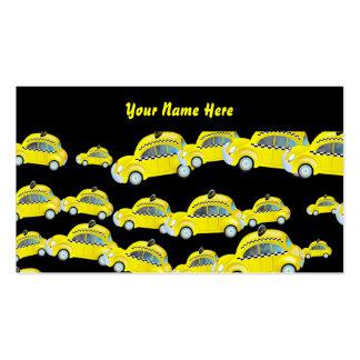 Papel pintado del taxi su nombre aquí tarjetas de visita
