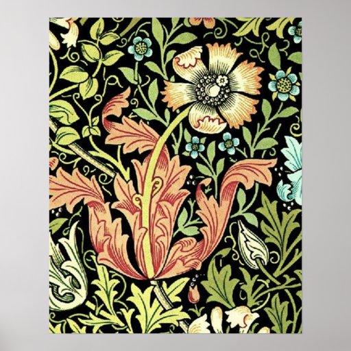 Papel pintado floral del vintage impresiones