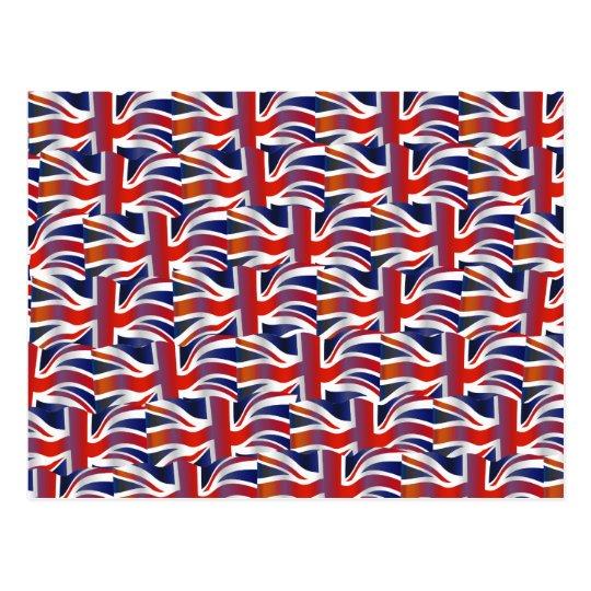 Papel pintado ondulado británico de la bandera postal