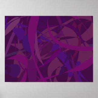 Papel pintado púrpura poster