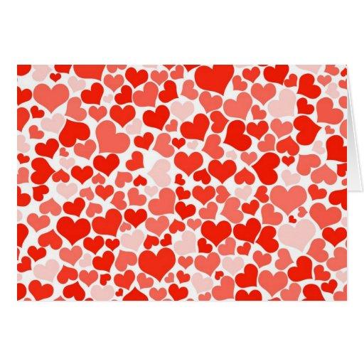 Papel pintado rojo del modelo de los corazones tarjetas - Comprar papel decorativo ...