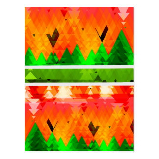 Papel pintado temático de la caída verde postal