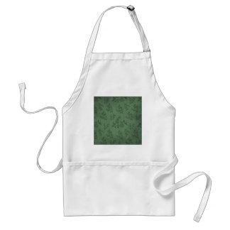 Papel pintado verde del vintage delantal