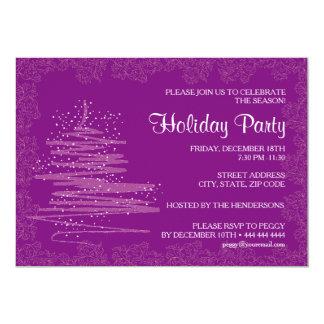 Papel púrpura contemporáneo 5x7 de la celebración invitación 12,7 x 17,8 cm