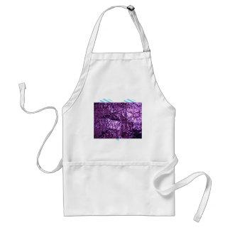 Papel púrpura del holograma delantal