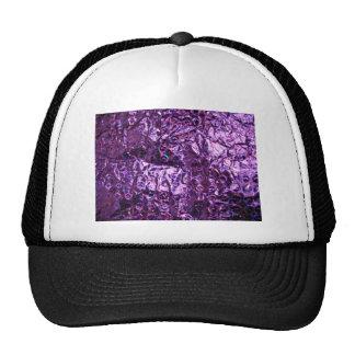 Papel púrpura del holograma gorras