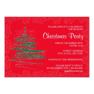 Papel rojo 5x7 de la fiesta de Navidad Invitación 12,7 X 17,8 Cm
