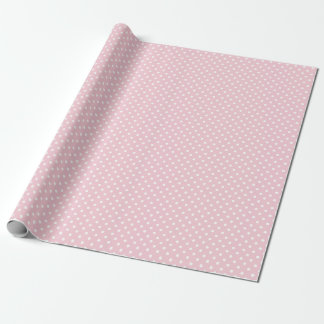 Papel rosado del papel de regalo del lunar
