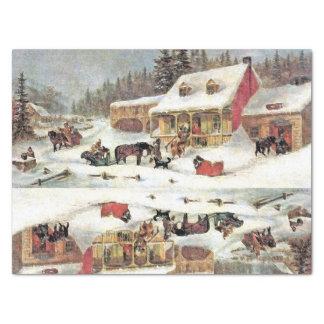 Papel seda americana del invierno del herrero del