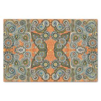 papel seda anaranjado del modelo de Paisley