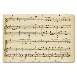 Papel seda antiguo de la partitura