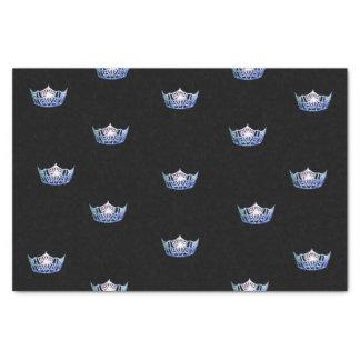 Papel seda azul de la corona de Srta. América