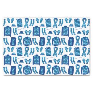 Papel seda azul de los artículos del modelo de